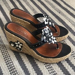 Coach Jessica espadrilles wedge sandals size 6.5